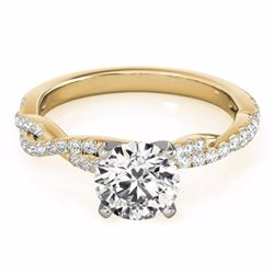 0.75 CTW Certified SI-I Diamond Solitaire Bridal  Ring 18K Yellow Gold - 27845-#93G2M