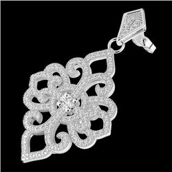 Natural 2.50 CTW Micro Pave Diamond Certified Designer Earrings 14K White Gold - 22549-REF#-152V2Y