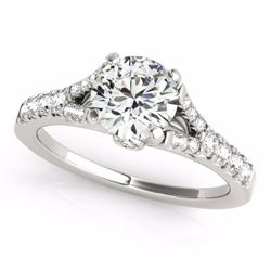 0.75 CTW Certified SI-I Diamond Solitaire Bridal  Ring 18K White Gold - 27630-#60N4F