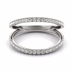 0.33 CTW Certified SI-I Diamond Designer Fashion Ring 18K White Gold - 28271-#48R7K