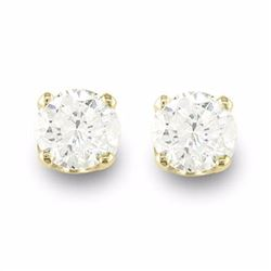 Natural 0.40 ctw Diamond Solitaire Stud Earrings 14K Yellow Gold - 12608-#23R9H