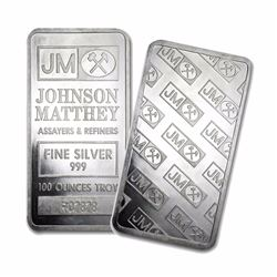 One piece 100 oz fine silver bar johnson matthey for Fine silver 999 jewelry