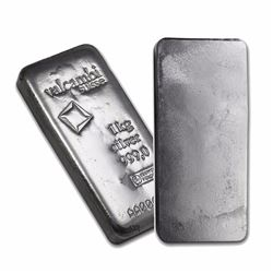 One piece 1 kilo 0.999 Fine Silver Bar Valcambi with Assay