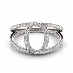 0.65 CTW Certified SI-I Diamond Designer Fashion Ring 18K White Gold - 28277-#68W3H