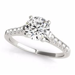 0.77 CTW Certified SI-I Diamond Solitaire Bridal  Ring 18K White Gold - 27576-#95F2N