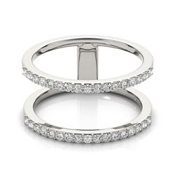 0.90 CTW Certified SI-I Diamond Designer Fashion Ring 18K White Gold - 28292-#84V7A