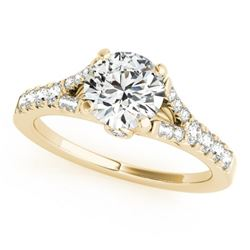 0.75 CTW Certified SI-I Diamond Solitaire Bridal  Ring 18K Yellow Gold - 27632-#60W4H