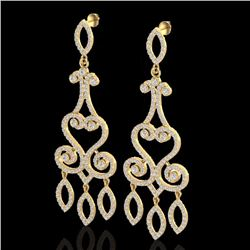 3.25 CTW Diamond Certified Micro Pave Designer Earrings 14K Yellow Gold - 22417-REF#203M4G