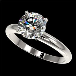 2.03 CTW Certified H-I Quality Genuine Diamond Solitaire Engagement Ring 10K White Gold - 36449-REF#