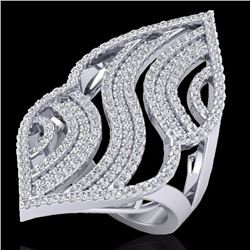 2 CTW Micro Pave Diamond Certified Designer Ring 14K White Gold - 20869-REF#121T8Z