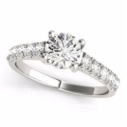 2.10 CTW Certified G-I Genuine Diamond Bridal Solitaire Ring 10K White Gold - 35498-REF#325Z2T
