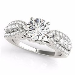 2 CTW Certified G-I Genuine Diamond Solitaire Bridal Ring 10K White Gold - 35268-REF#162F3N