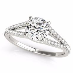 1.75 CTW Certified G-I Genuine Diamond Solitaire Bridal Ring 10K White Gold - 35309-REF#309W3H