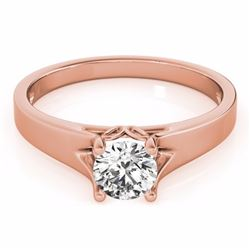 1.50 CTW Certified Fancy Blue Genuine Diamond Solitaire Bridal Ring 10K Rose Gold - 35170-REF#152F3N