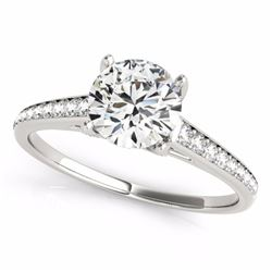 2 CTW Certified G-I Genuine Diamond Solitaire Bridal Ring 10K White Gold - 34853-REF#326T5Z