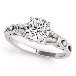 1.20 CTW Certified Black Genuine Diamond Solitaire Bridal Ring 10K White Gold - 35253-REF#47M8G