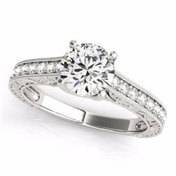 1.32 CTW Certified Fancy Intense Genuine Diamond Solitaire Ring 10K White Gold - 34950-REF#102A5V
