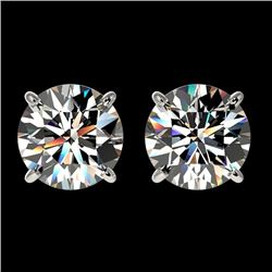 2.05 CTW Certified H-I Quality Genuine Diamond Solitaire Stud Earrings 10K White Gold - 36634-REF#14