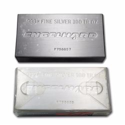 One piece 100 oz 0.999 Fine Silver Bar Engelhard in Original Plastic