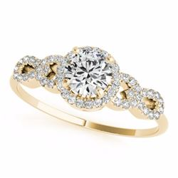 1.33 CTW Certified G-I Genuine Diamond Solitaire Bridal Ring 10K Yellow Gold - 35315-REF#104N5F