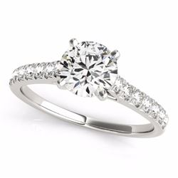 1.45 CTW Certified G-I Genuine Diamond Solitaire Bridal Ring 10K White Gold - 34979-REF#107H3W