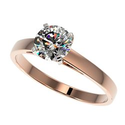 1.03 CTW Certified H-I Quality Genuine Diamond Solitaire Engagement Ring 10K Rose Gold - 36505-REF#8