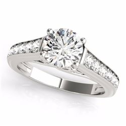 1.50 CTW Certified Fancy Blue Genuine Diamond Solitaire Bridal Ring 10K White Gold - 34903-REF#116H2