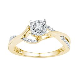 0.20 CTW Diamond Ladies Ring 10KT Yellow Gold - GD108616-REF#26M9F