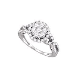 1 CTW Diamond Ladies Ring 10KT White Gold - GD71952-REF#98K8R