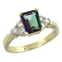 Natural 1.48 ctw mystic-topaz & Diamond Engagement Ring 10K Yellow Gold - SC#CY908169 - REF#37F5V