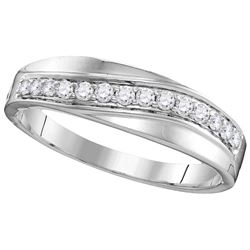 1 CTW Diamond Trio Set Ring 14KT White Gold - GD109764-REF#134A9X