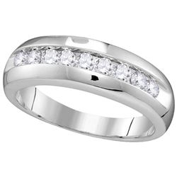 0.5 CTW Diamond Men's Ring 10KT White Gold - GD110083-REF#53Y9Z