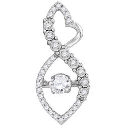 0.25 CTW Diamond Pendant 10KT White Gold - GD104726-REF#36V2A