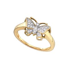 0.08 CTW Diamond Ladies Ring 10KT Yellow Gold - GD75826-REF#14T4K
