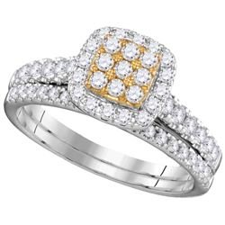 0.75 CTW Diamond Bridal Set Ring 14KT Two-tone Gold - GD111250-REF#98Y8Z