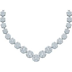 5 CTW Diamond Necklace 14KT White Gold - GD41714-REF#719T9A