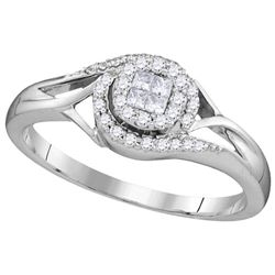 0.2 CTW Diamond Ladies Ring 10KT White Gold - GD109962-REF#26Y9Z