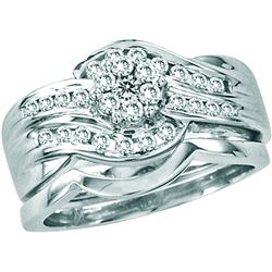 0.5 CTW Diamond Bridal Set Ring 14KT White Gold - GD13899-REF#107V9A