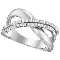 0.35 CTW Diamond Ladies Ring 10KT White Gold - GD110073-REF#36R2H