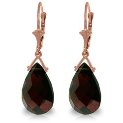Genuine 10.2 ctw Garnet Earrings Jewelry 14KT Rose Gold - GG#3231 - REF#39F2Z
