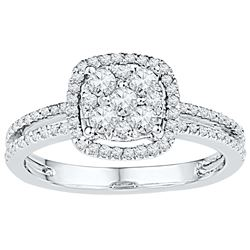 0.5 CTW Diamond Ladies Ring 10KT White Gold - GD108695-REF#50X3Y