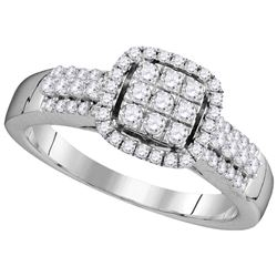 0.50 CTW Diamond Ladies Ring 10KT White Gold - GD105787-REF#62K9R