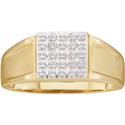 0.3 CTW Diamond Men's Ring 10KT Yellow Gold - GD19388-REF#17H9W
