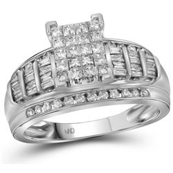 1 CTW Diamond Ladies Ring 10KT White Gold - GD67772-REF#71A9X