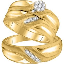 0.15 CTW Diamond Trio Set Ring 10KT Yellow Gold - GD105908-REF#45K2R