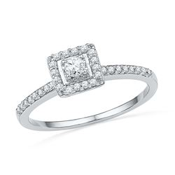 0.25 CTW Diamond Ladies Ring 10KT White Gold - GD100751-REF#25Y3Z