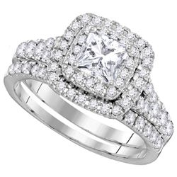 2.13 CTW Diamond Bridal Set Ring 14KT White Gold - GD106331-REF#323W9G