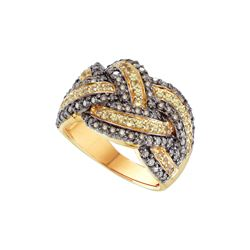 1.62 CTW Yellow & Cognac Diamond Ladies Ring 14KT Yellow Gold - GD52034-REF#158T4K