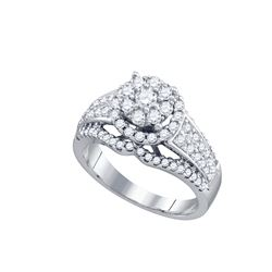 1 CTW Diamond Ladies Ring 10KT White Gold - GD72594-REF#104Z3T