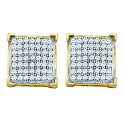 0.15 CTW Diamond Earrings 10KT Yellow Gold - GD50584-REF#14F4N